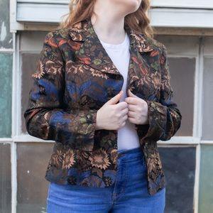 Vintage jewel toned blazer